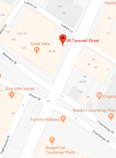 Map of 40 Taranaki St